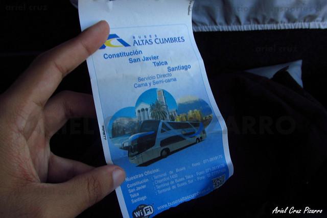 Pasaje Buses Altas Cumbres