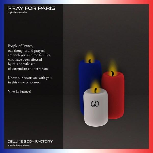 Pray for Paris candles