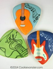Guitar theme cookies