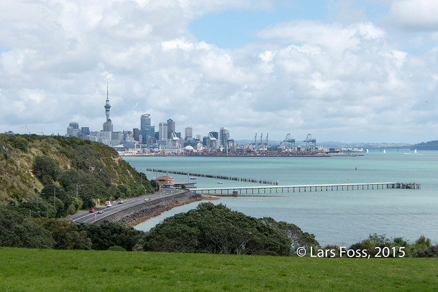 Auckland CBD seen from Michael Joseph Savage Memorial Park