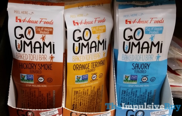 House Foods Go Umami Baked Tofu Bar (Hickory Smoke, Orange Teriyaki, and Savory)