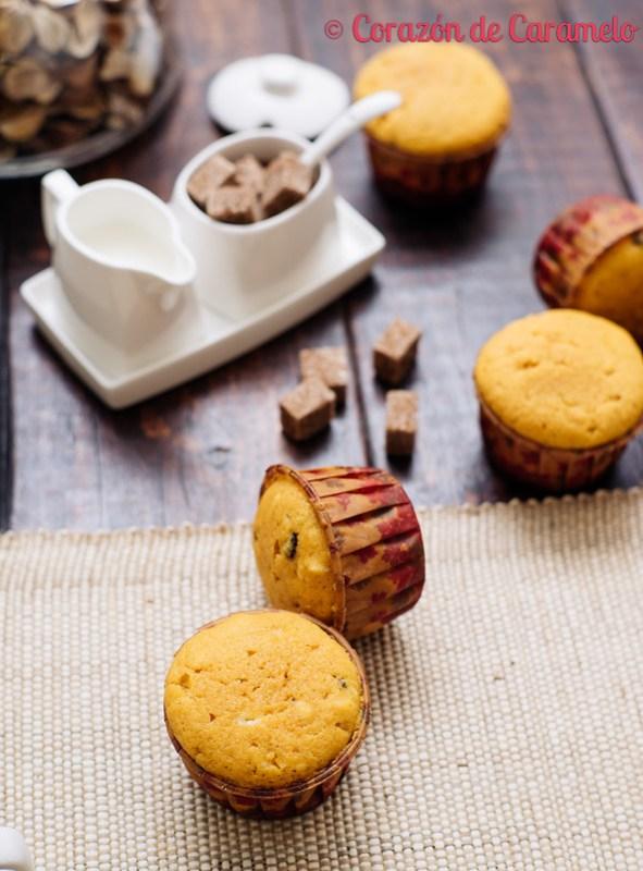 Muffins de Calabaza con pepitas de Chocolate