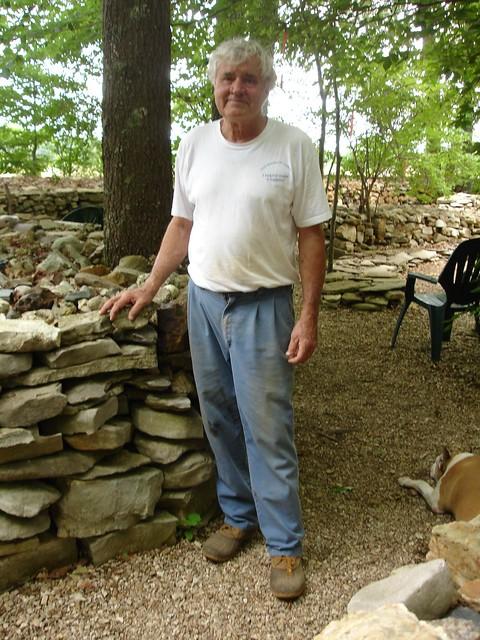 Tom Hendrix, builder of Te-Lah-Nay's Wall, Lauderdale County AL