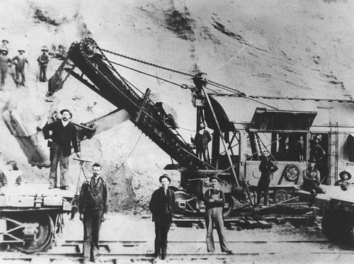 OAPS steam shovel at a big cut near Ottawa