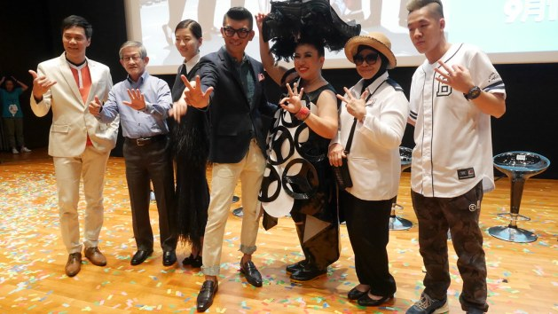Brandon Wong, Michael Tan, Joi Chua, Royston Tan, Liu Ling Ling, Rahimah Rahim and Shigga Shay.