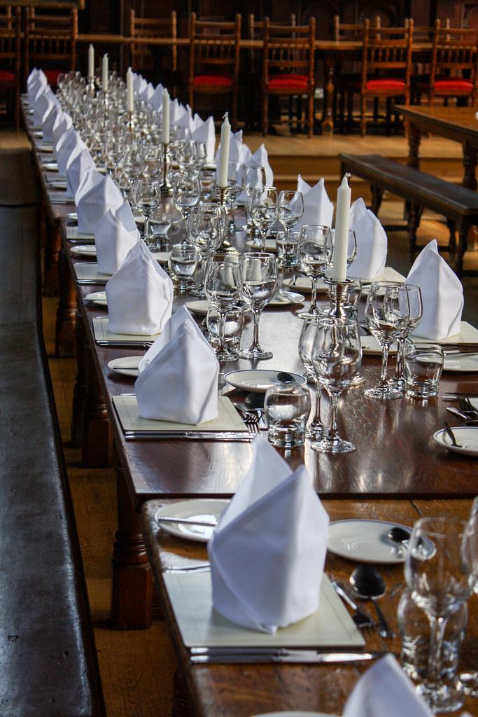 Hall Set For Dinner