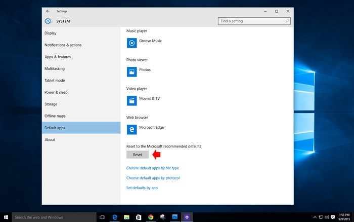 How to customize default app in Windows 10