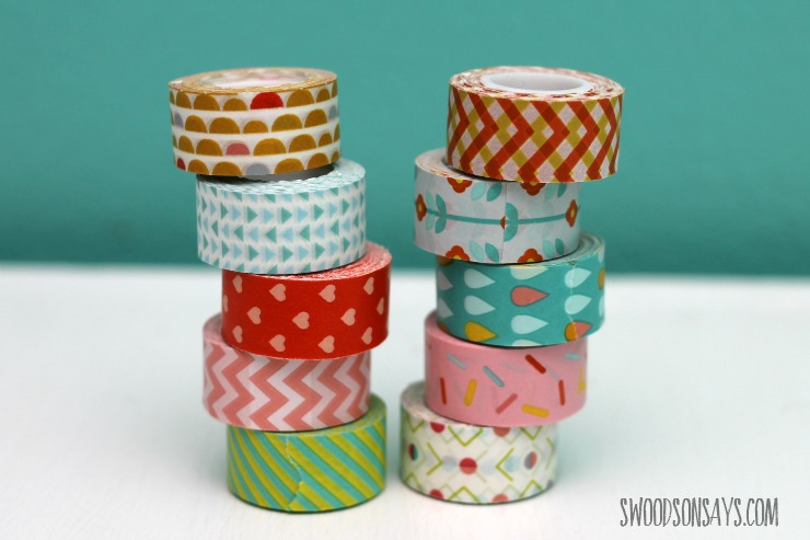 mini washi tape rolls