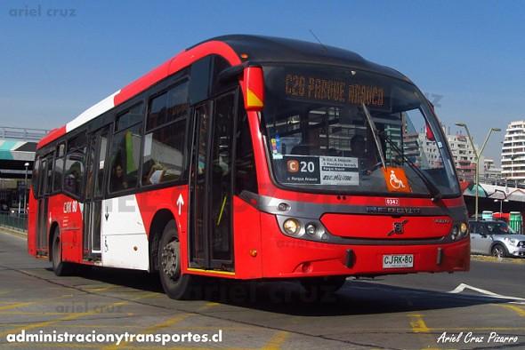 Transantiago - Redbus Urbano - Neobus Mega BRT / Volvo (CJRK80) (342)