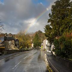 Rainbow over #Ambleside