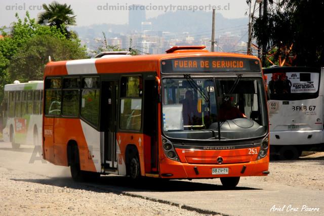 Transantiago - Redbus Urbano - Neobus Mega LE / Mercedes Benz (BBZV76)