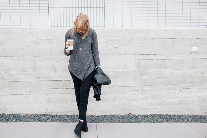 asymmetrical sweater leather jacket4