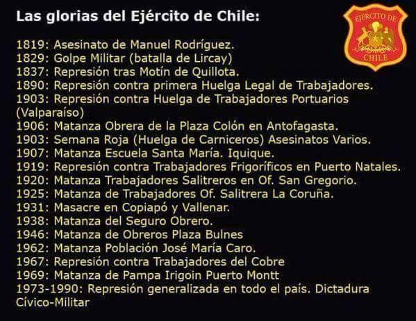 Las Glorias del Ejército de Chile