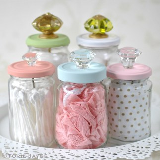upcycled jar craft with drawer pulls