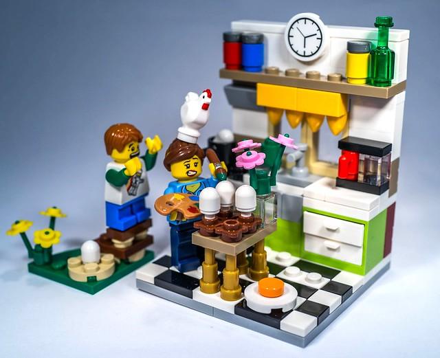 REVIEW LEGO 40121 - Seasonal - Painting Easter Eggs