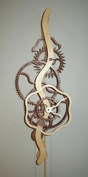 serpentine wood gear clock that i'm making