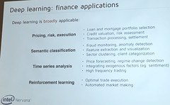 Nervana after Intel —  Finance Applications for Deep Learning