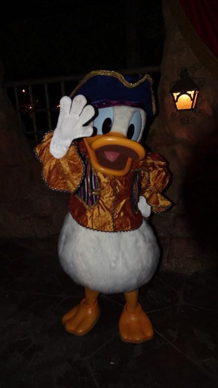 PIrate Donald Duck at Disneyland Halloween Party