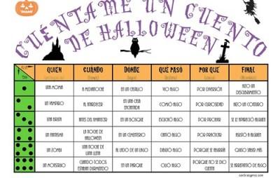 juego para contar historias de Halloween. Cuéntame un cuento Halloween