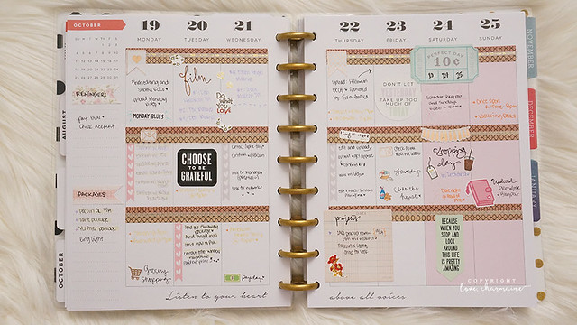 October 2015 in my Happy Planner - LoveCharmaine.com