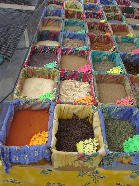 Nice Market Spice Stall, France