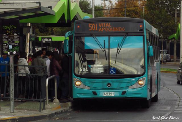 Transantiago - Metbus - Caio Mondego H / Mercedes Benz (BJFB54)