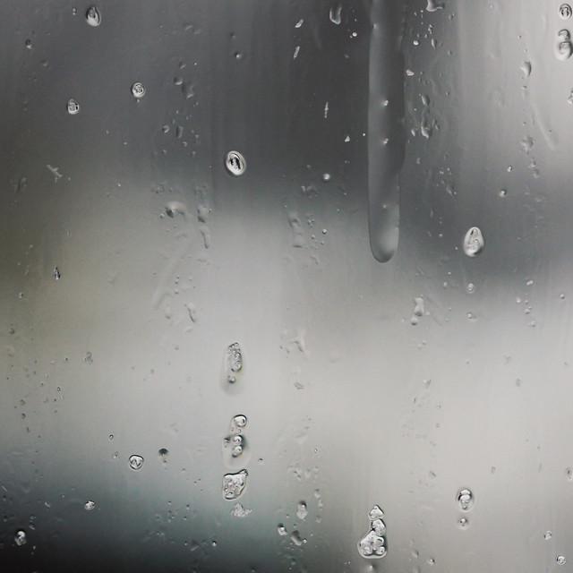 Sleet on window