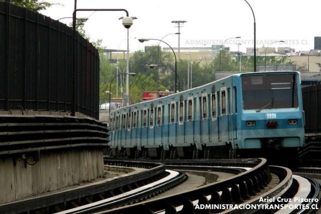 Metro de Santiago - Alsthom NS74 P3020 - Parque O'Higgins / Toesca (Línea 2)
