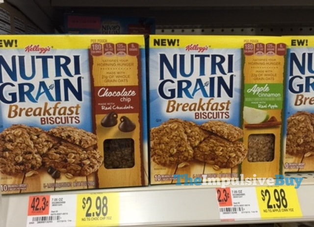 Kellogg's NutriGrain Breakfast Biscuit (Chocolate Chip and Apple Cinnamon)