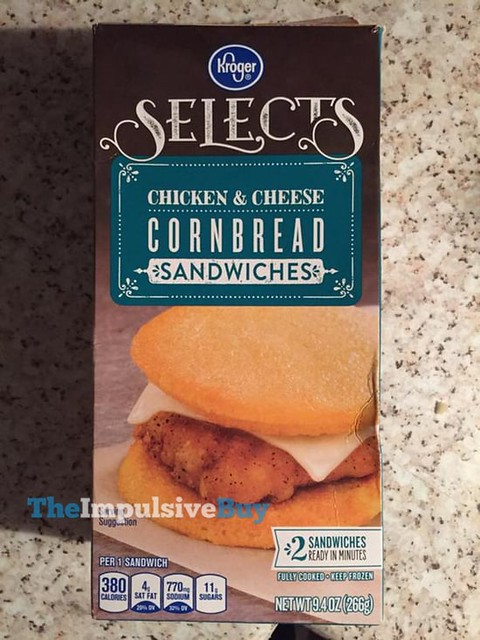 Kroger Selects Chicken & Cheese Cornbread Sandwiches