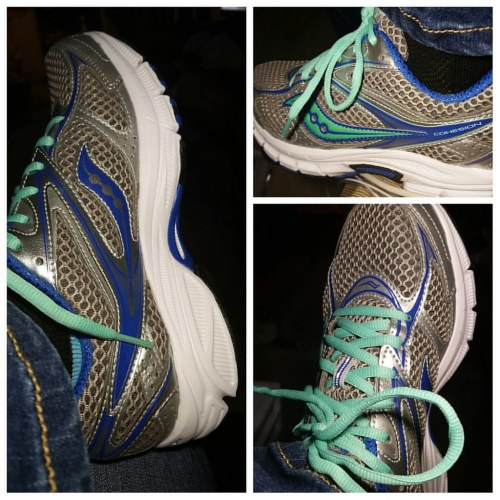 When the sides and tops of your feet start to hurt, it's time for new shoes! Academy Sports had some great deals! I got these for $44 even with tax! #saucony #gridcohesion8 #silverbluemint #runningshoes #academysports
