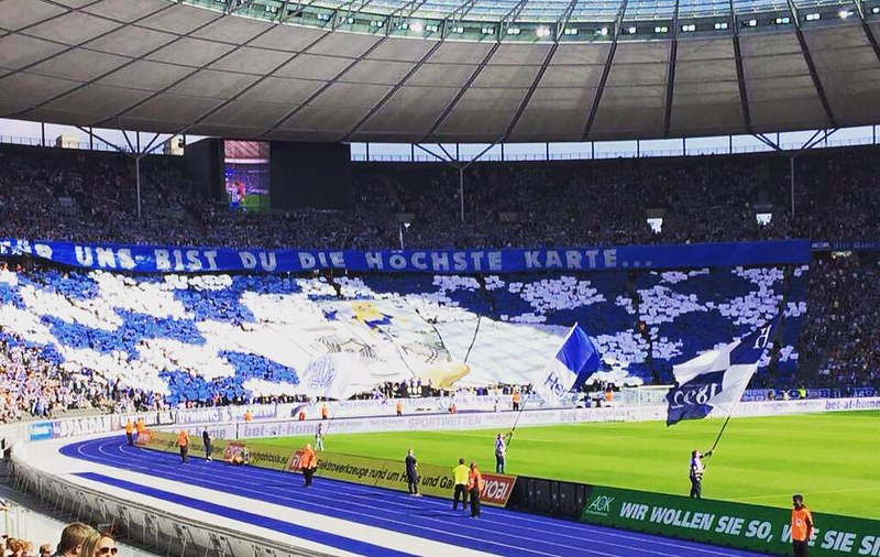 #Sieg #Heimsieg #Hertha #BSC #Choreo #FürUnsBistDuDieHöchsteKarte #Bundesliga #BSCVFB #Blau #Weiß #Fußballclub #Berlin #Olympiastadion #Alte #Dame #SIEG