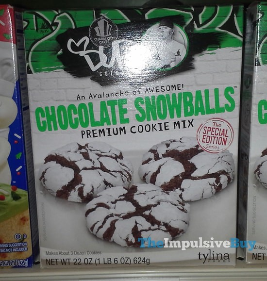 Charm City Cakes Duff Goldman Chocolate Snowballs Premium Cookie Mix