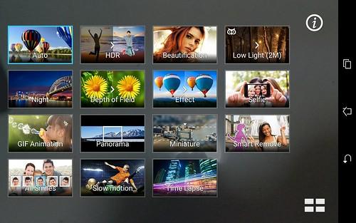 โหมดถ่ายภาพต่างๆ ของ ASUS ZenPad 7.0 (Z370CG)