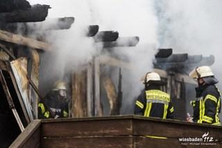 Wohncontainerbrand Mainz-Kastel 19.12.15