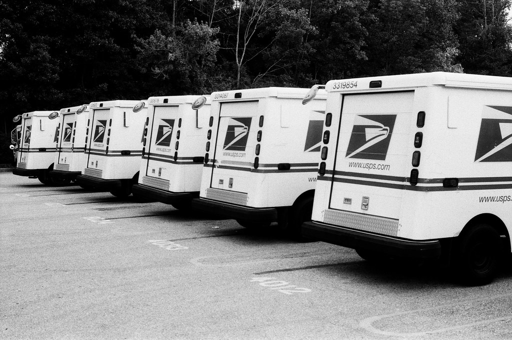 Postal truck butts