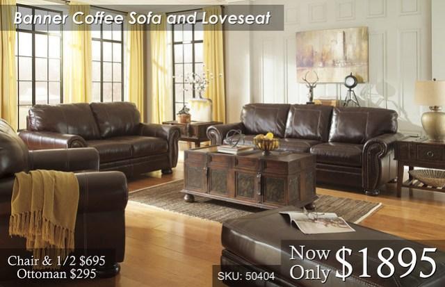 Banner Coffee Sofa Love