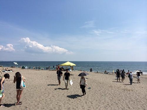 七里ケ浜、暑い!