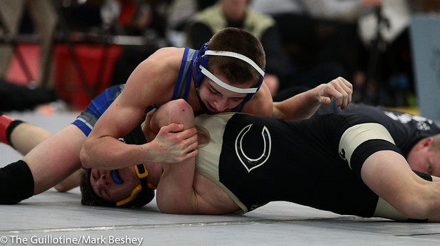 120 - Ryan Dunlap (Foley) over Thomas Harden (Commerce) Fall 1:04