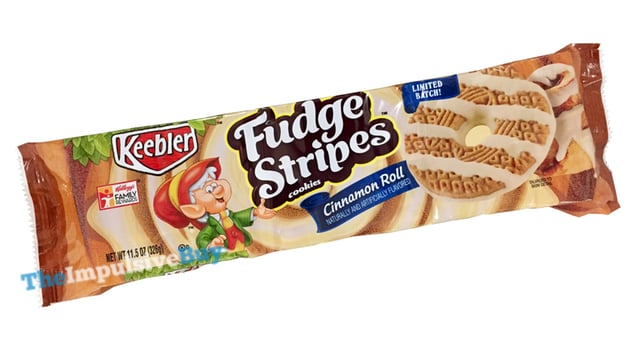 REVIEW: Keebler Limited Batch Cinnamon Roll Fudge Stripes Cookies