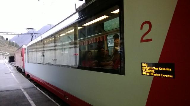 Glacier Express to St Moritz Switzerland