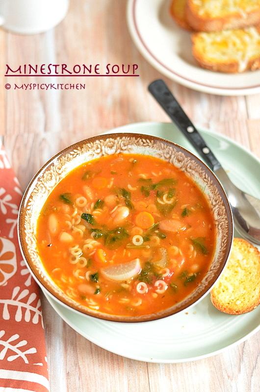 Italian Food, Italian Soup, Italian Cuisine, Blogging Marathon, Buffet on Table, Anellini Pasta, Cannellini Beans,