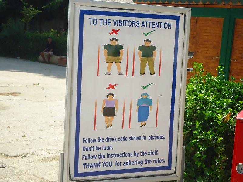 Vestimenta correcta para entrar a la Mezquita Azul