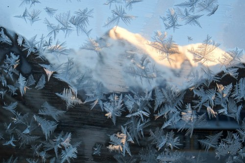 Frost on our window, Cho Oyu