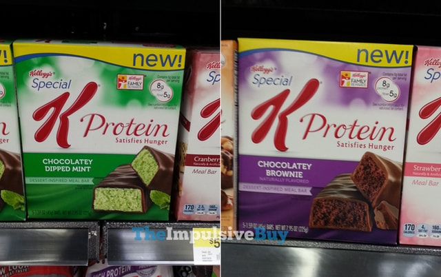 Special K Protein Chocolatey Dipped Mint and Chocolatey Brownie Meal Bars