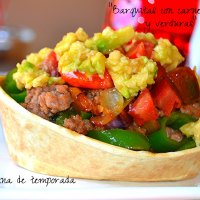 Barquitas con carne picada y verduras