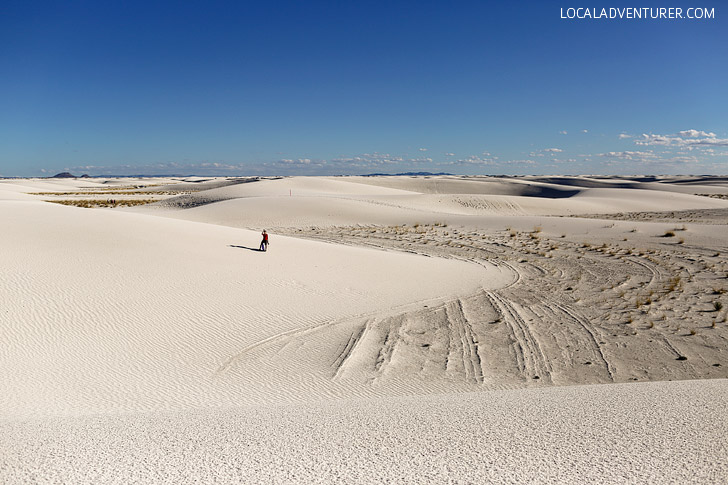White Sands National Monument New Mexico USA - one of the world's great natural wonders located an hour outside Las Cruces.