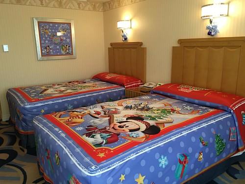 ディズニーアンバサダーホテルの「クリスマス・ファンタジー」デコレーションルーム。