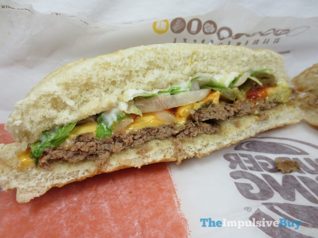 Burger King Extra Long Jalapen?o Cheeseburger 3