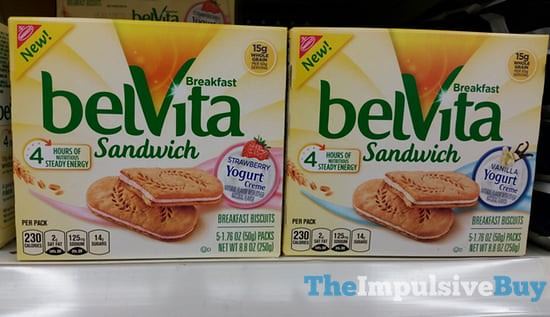 Nabisco belVita Yogurt Creme Breakfast Sandwich (Strawberry and Vanilla)